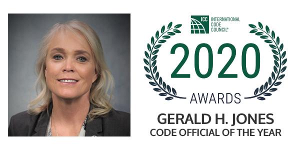 2020 Gerald H. Jones Code Official of the Year Valerie Evans