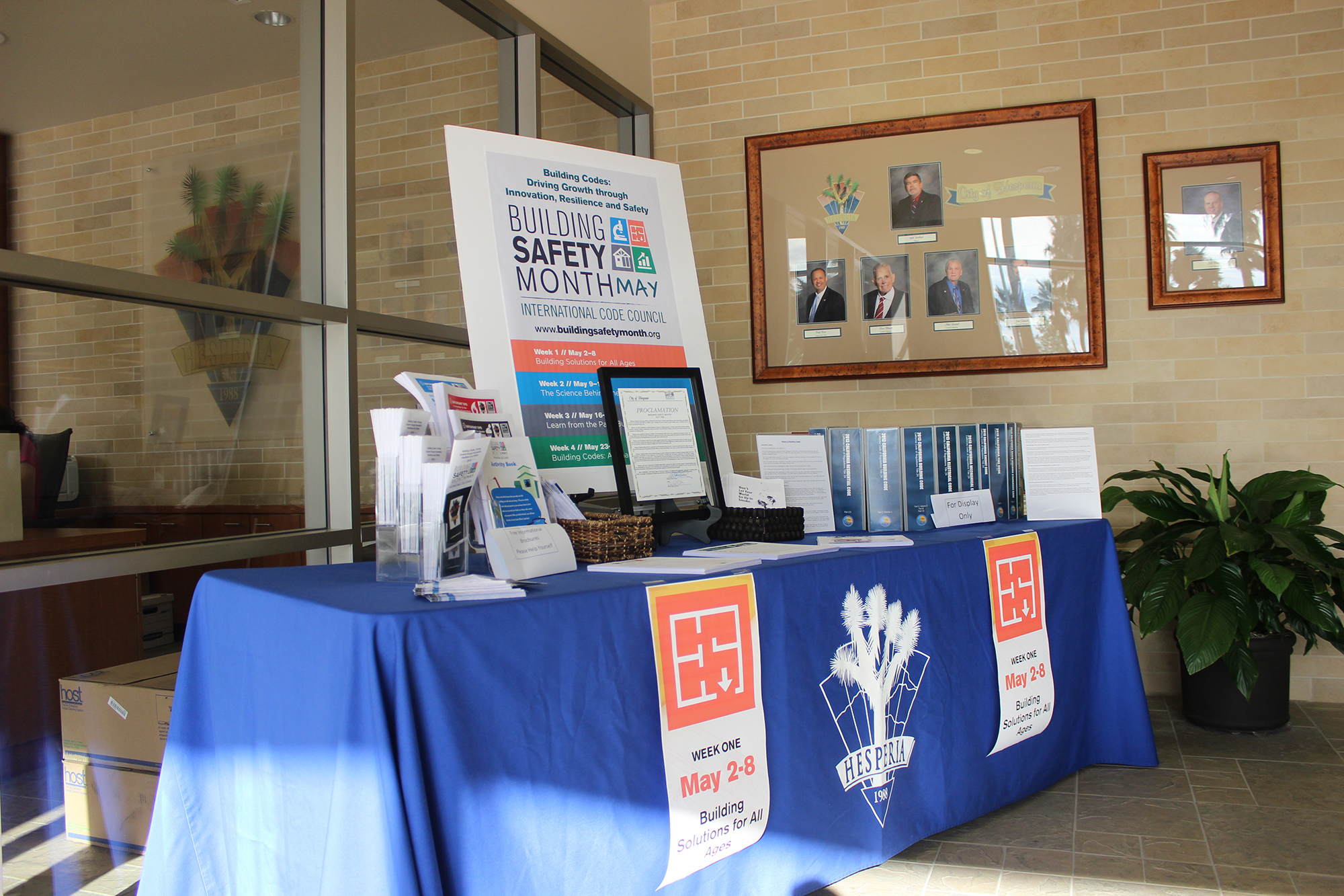 Hesperia Display Building Safety Month