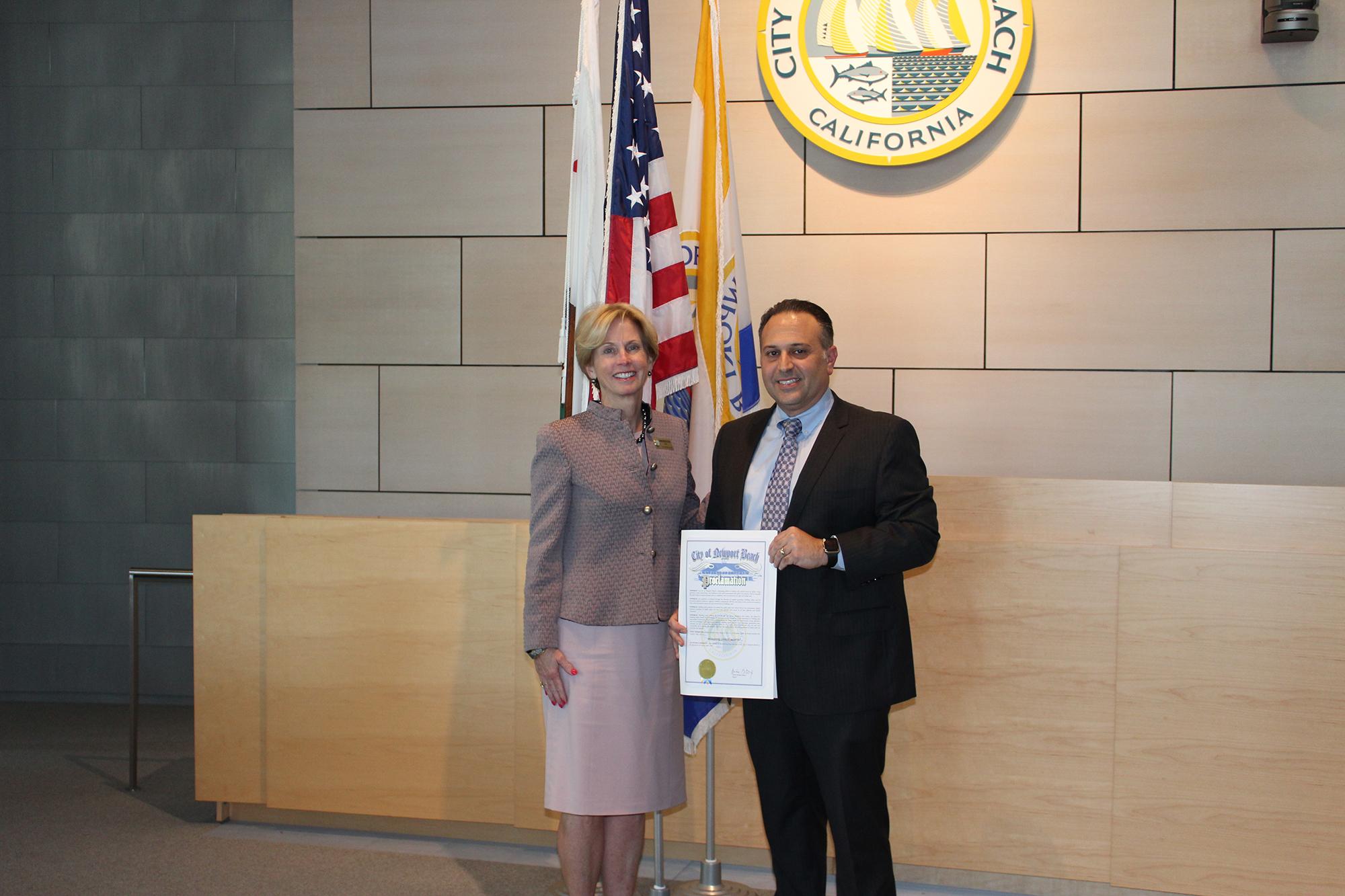 Newport Beach Bldg Official with Mayor