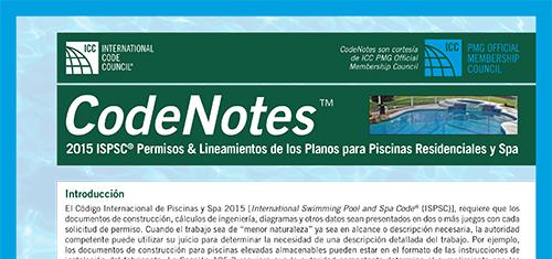 2015 ISPSC® Permisos & Lineamientos de los Planos Para Piscinas Residenciales y Spas